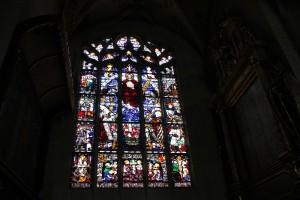 Buntes Kirchenfenster Muenster Ueberlingen