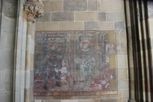 Mittelalterliche Freske Muenster Ueberlingen