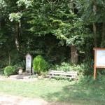 Sitzbank am Wald bei Dietenheim