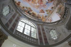 Barocke Malerei und Fenster Schloss Bad Wurzach