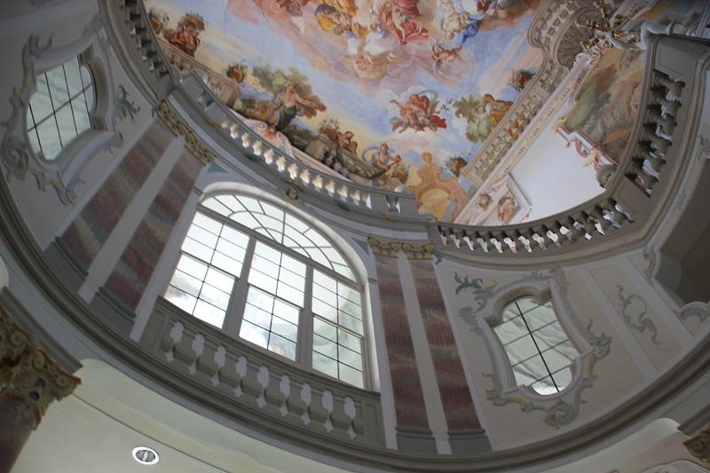 Fenster Bad Wurzach : Barocke Malerei und Fenster Schloss Bad Wurzach