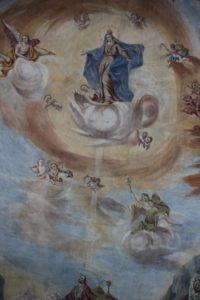 Deckenbild Maria erleuchtet Johannes Kirche Michelwinnaden