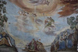 Deckenbild Maria und Erleuchtung Johannes Michelwinnaden