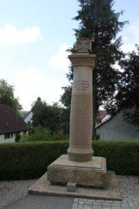 Denkmal erster Weltkrieg Michelwinnaden