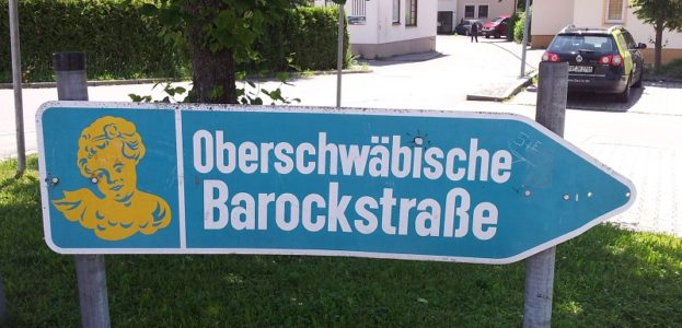 Schild Oberschwaebische Barockstrasse