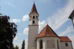 Sonnenuhr St Johannes Evangelist Kirche Michelwinnaden