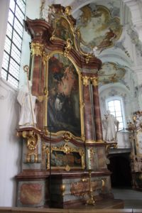 Linker Seitenaltar Kirche St Georg Jakobus Isny