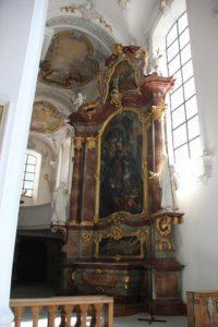 Rechter Seitenaltar Kirche St Georg Jakobus Isny