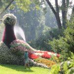 Taube Blumenfigur Insel Mainau