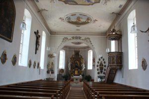 Innenraum Kirche Herlazhofen