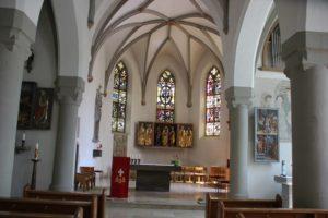 Innenraum Kirche St Georg Koenigeggwald