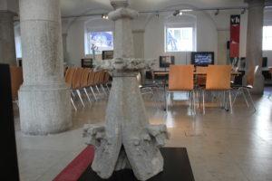 Gotischer Stein Muenster im Schwoerhaus ULm