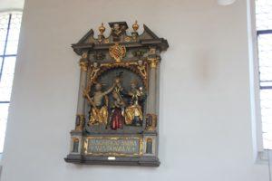Kirche Riedhausen Darstellung mit Wappen Koenigsegg-Aulendorf