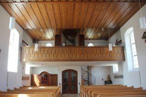 Orgel und Galerie Kirche Riedhause