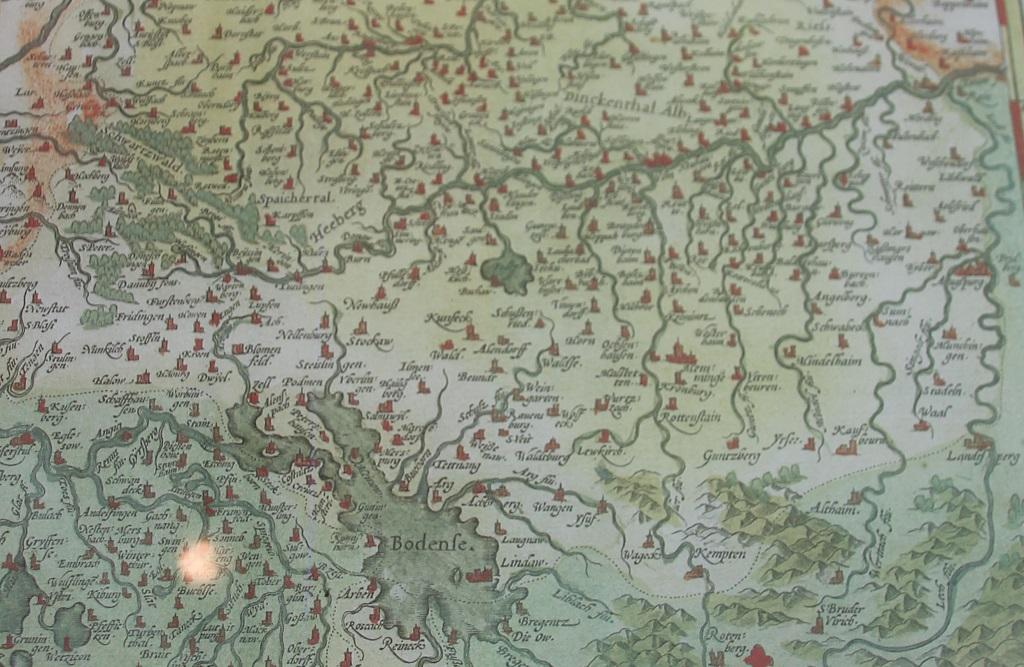 Alte Karte Oberschwaben