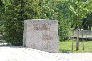 Denkmalsinschrift Ehingen Stadtgarten