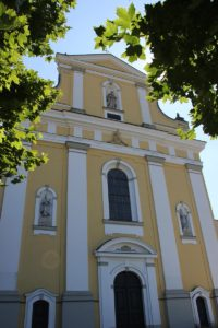 Eingang Kirche St Verena Rot an der Rot