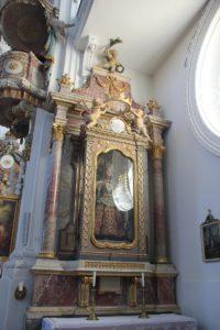 Heiligen Figur Kirche St Verena Rot an der Rot