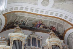 Vertreibung Haendler aus Tempel Fresko Rot an der Rot