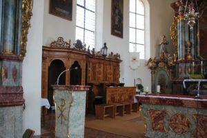 Beichtstuhl Chor St Blasius Attenweiler