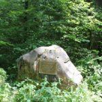 Gedenkstein fuer verunglueckten Waldarbeiter Schmalegger und Rinkenburger Tobel