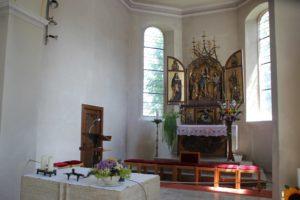 Gotischer Altar St Simon u Judas Kirche Zussdorf
