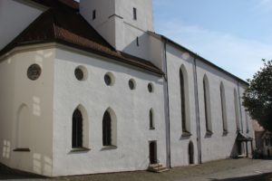 Romaischer Unterbau Turm St Martin Leutkirch