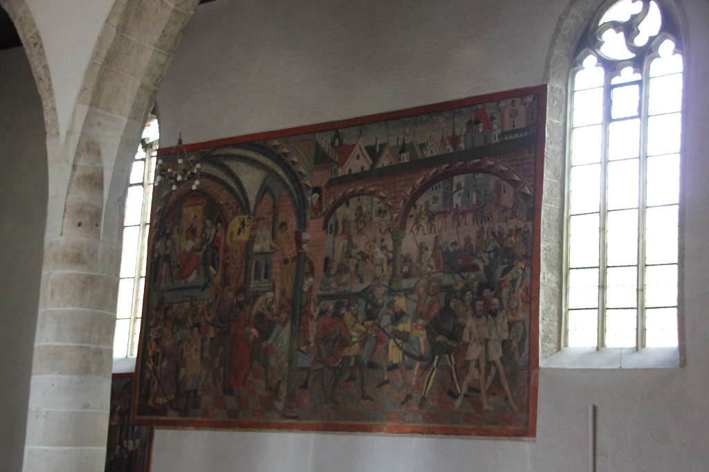 Wandgemaelde Jesu Verurteilung 16 Jahrhundert St Georg Riedlingen