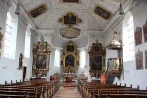 Barockes Inneres St Baptist Haisterkirch