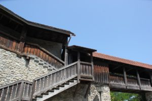 Treppe zum Wehrgang Stadtmauer Isny