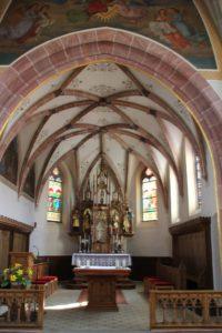 Gotische Decke St Nikolaus Baltringen