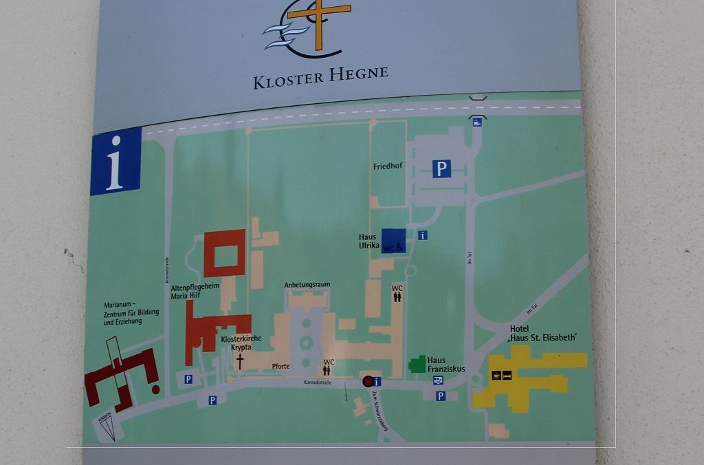 Kloster Hegne Gelaendeplan