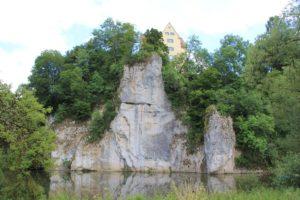 Donau vor Schloss Gutenstein