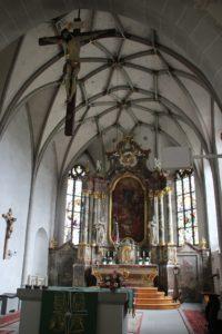 Gotisches Gewoelbe Barocker Hochaltar Kirche Owingen