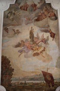 Deckenbild von Eriskrich in der Kirche Eriskirch