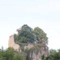 Burgruine Hausen im Tal vom Tal aus