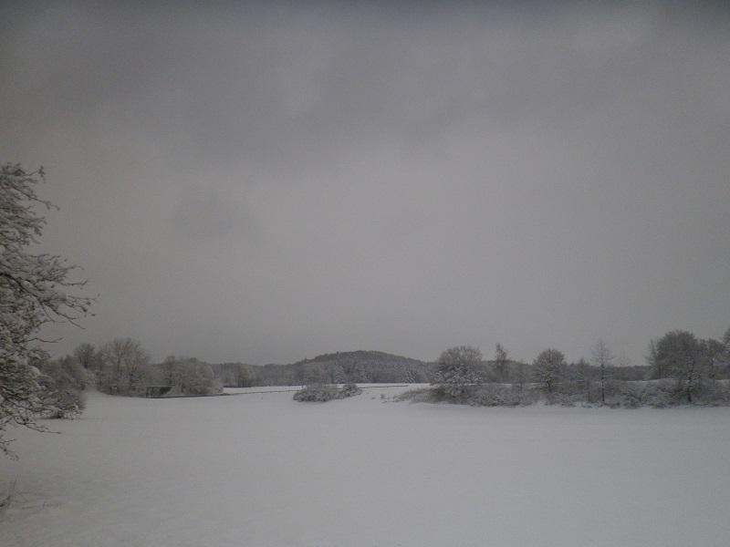 Schnee in Oberschwaben