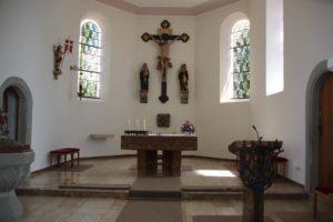 Apsis Empore Kirche St Baptist Danketsweiler
