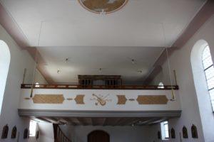 Empore Kirche St Baptist Danketsweiler
