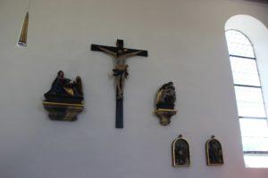 Figuren Kirche St Baptist Danketsweiler