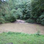 Kleiner Teich zur Grillhuette Lueginsland Buchenstock