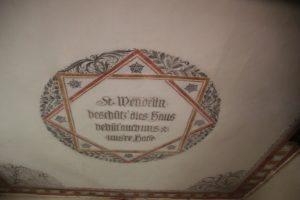 Deckeninschrift St Wendelinskapelle