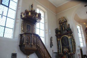 Barocke Kanzel Kirche Ahlen