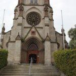 Eingang Neogotische St Konrad Kirche Langenenslingen