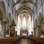 Innenraum Neogotische St Konrad Kirche Langenenslingen