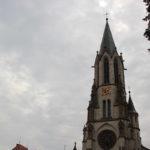 Kirchturm St Konrad Kirche Langenenslingen