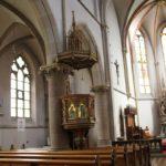 Neogotische Kanzel St Konrad Kirche Langenenslingen