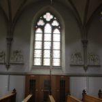 Neogotische Spitzbogenfenster Kirche Enslingen