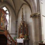 Neogotischer Seitenaltar St Konrad Kirche Langenenslingen