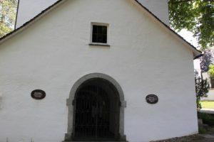 Eingang zur Oelbergkapelle Isny im Allgaeu